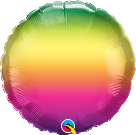 Round Shaped Vibrant Ombre Foil Helium Balloon